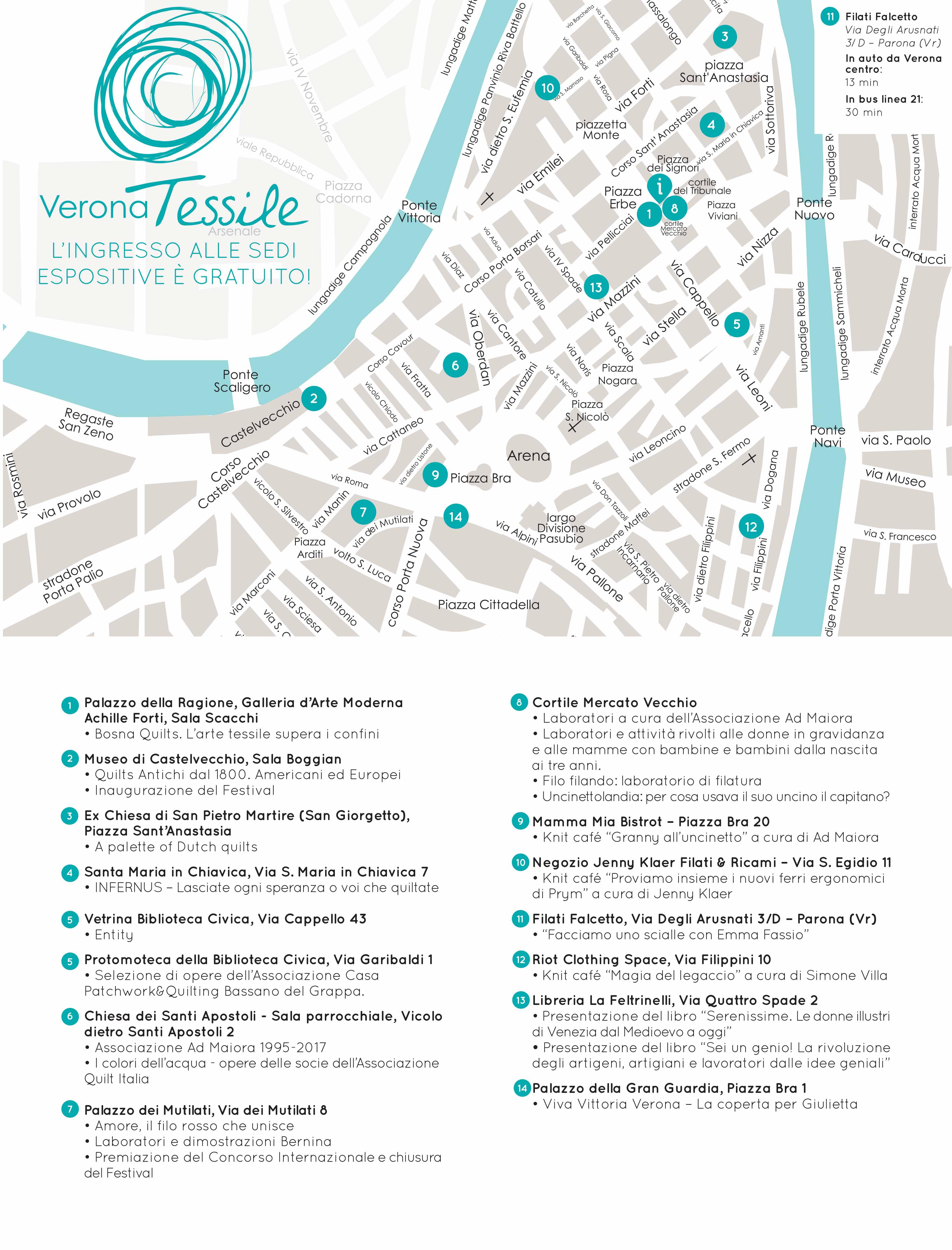 Mappa Verona Tessile 2017